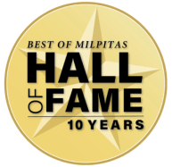 Best of Milpitas 10 Year Awared