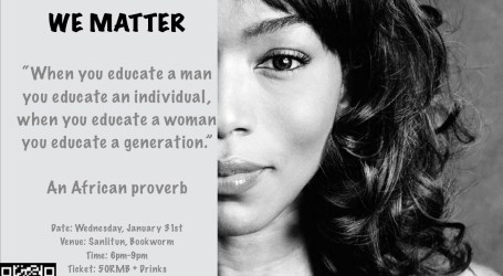 The Ducreay Foundation: We Matter Wednesday, January 31st.