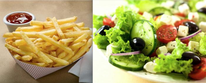 Fries or Salad
