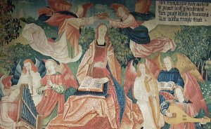 Mary being crowned