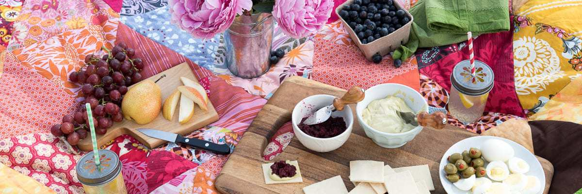 Basil Cashew Spread with Cherry Balsamic Compote by Thriving On Paleo