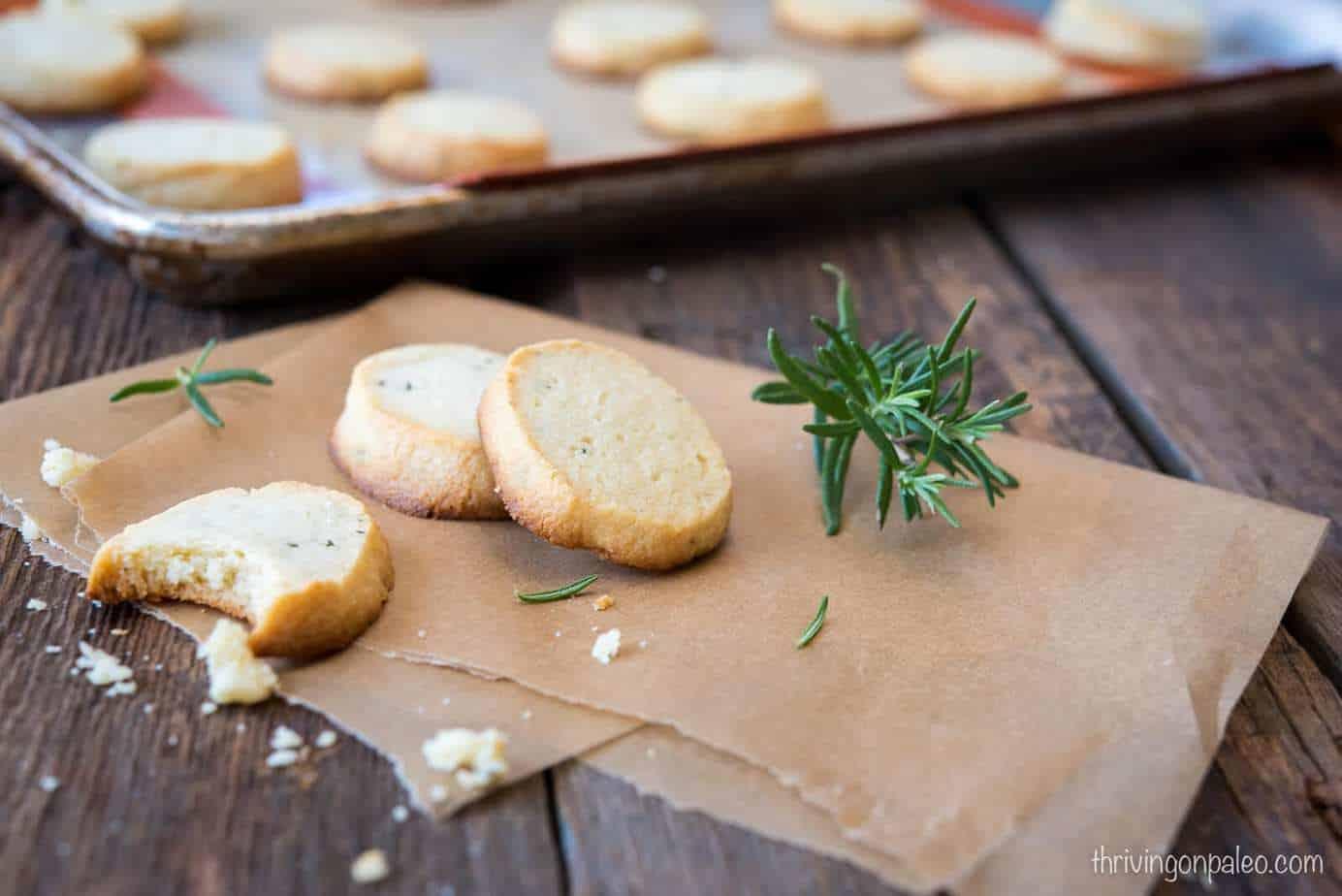 Paleo Rosemary Shortbread Cookies