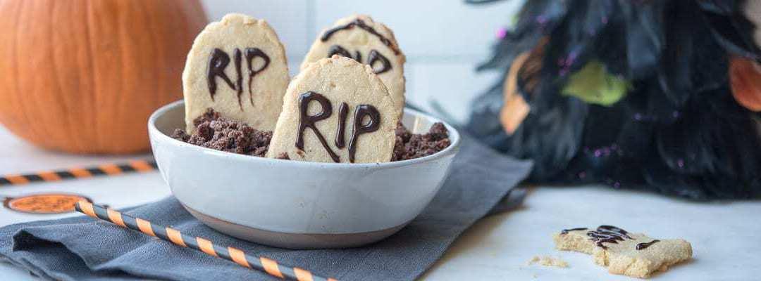 Paleo Halloween Tombstone Cookies