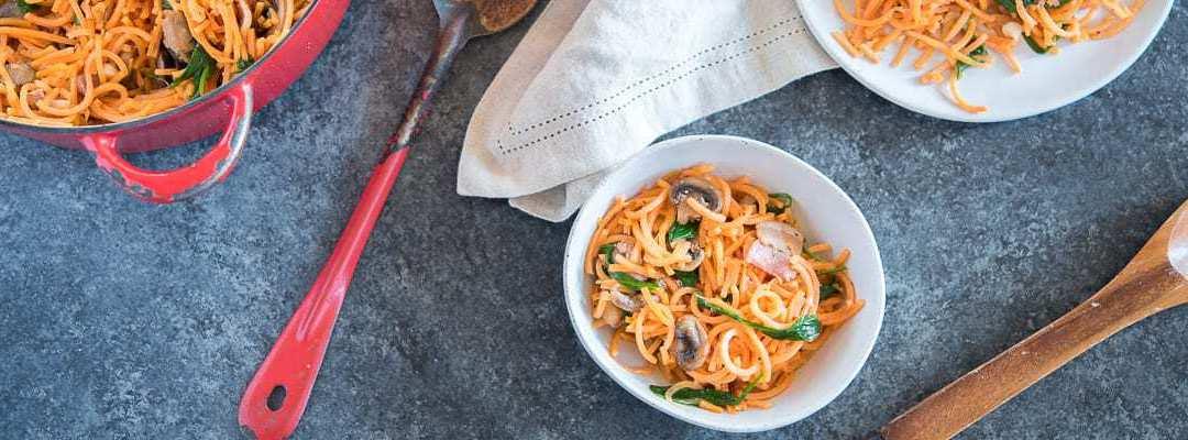 Sweet Potato Carbonara Pasta