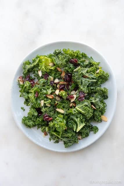 Kale and Almond Salad - a paleo, gluten-free, and vegetarian easy side dish