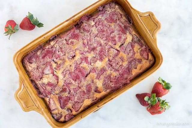 Paleo Strawberry Swirl Clafoutis - a delicious breakfast recipe