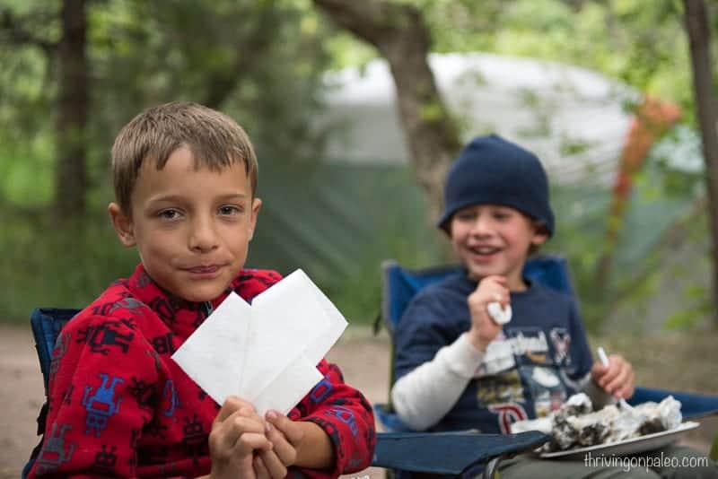 kids on our camping trip