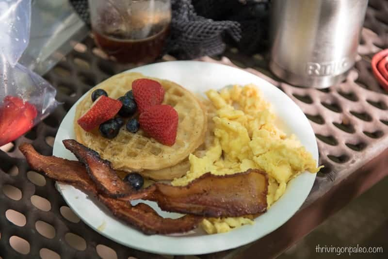 Breakfast during our camping trip (gluten-free)