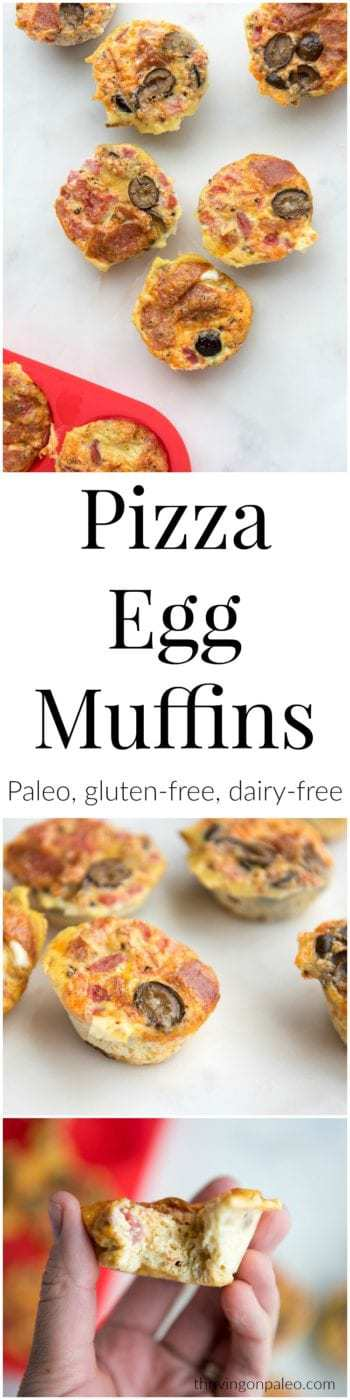 Paleo Pizza Egg muffins - a gluten-free and dairy-free make ahead breakfast recipe that is easily portable + a new vlog episode where I climb a mountain with my 7 year old and I show you what we ate