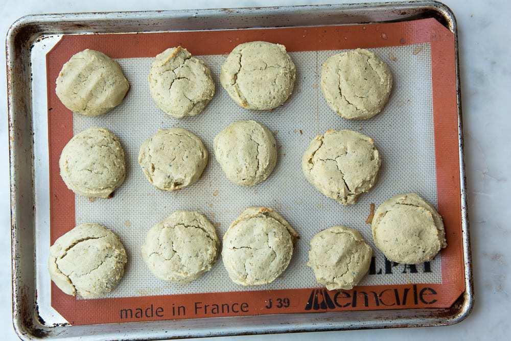 Biscuits being frozen