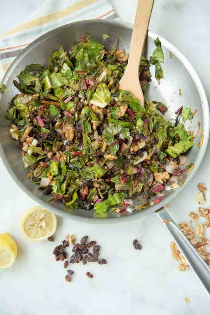 Braised Rainbow Chard - a Paleo, gluten-free, vegetarian, and vegan side dish recipe