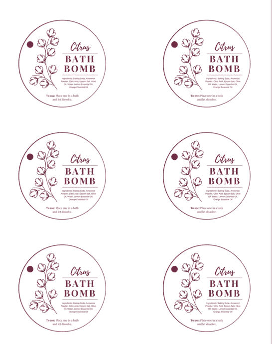Citrus Bath Bombs Gift Tags And Recipe Thriving On Paleo