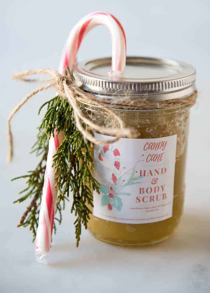 Candy Cane Hand and Body Scrub DIY Handmade Gift Idea