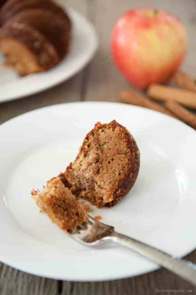 Paleo Cinnamon Apple Cake recipe by Thriving On Paleo. Gluten-free and perfect for fall!