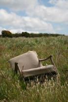 chair in field