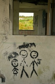 family grafitti with window