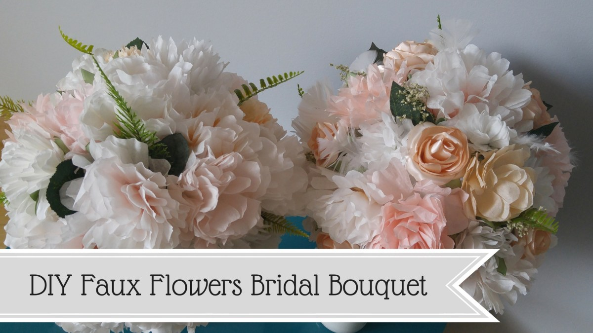 Faux Flowers Bridal Bouquet