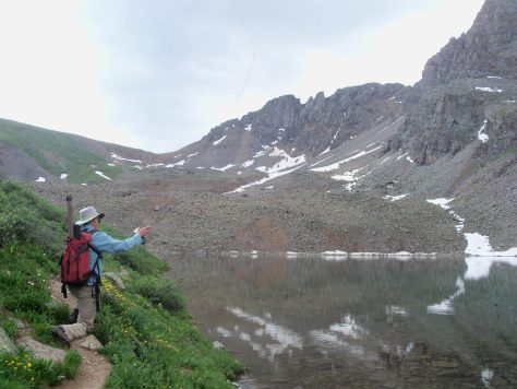 Flyfishing At The Top of The World for colorado cutthroat trout in the maroon bells-snowmass wilderness of colorado while scouting for mountain goats