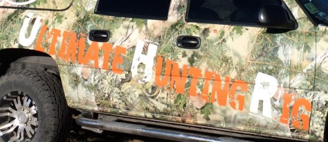 close-up of the ultimate hunting righ suv won in raffle
