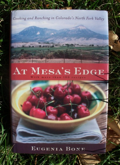 the front cover of At Meas's Edge: Cooking and Ranching in Colorado's North Fork Valley by Eugenia Bone with some pheasant and wild game recipes