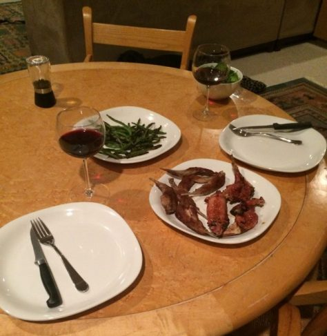 A Table Setting with Mountain Cottontail Rabbit Ready To Be Served