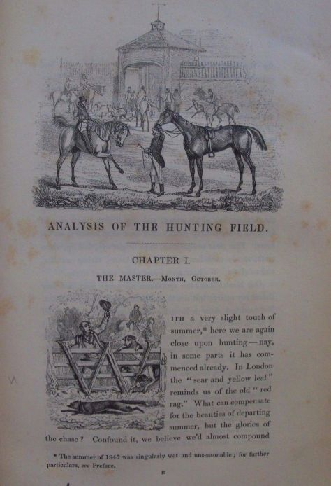 The Analysis of The Hunting Field by Surtees and Alken. With 43 wood engraved text illustrations by Cook and Company.