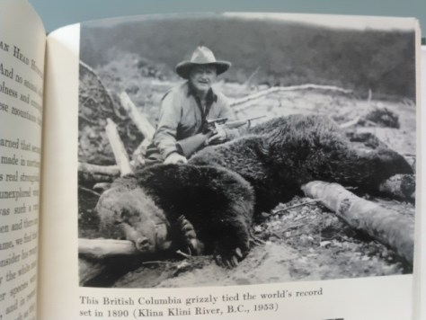 A Photo of Big Game Hunter Grancel Fitz, With His World Record Grizzly Bear. From His Book North American Head Hunting. From the Collection of Michael Patrick McCarty