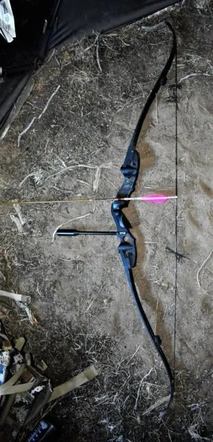 A Hoyt Satori Traditional Recurve, Easton Axis Traditional Carbon Arrows, And The Helix Single Bevel Broadhead By Strickland's Archery. Photograph By Michael Patrick McCarty