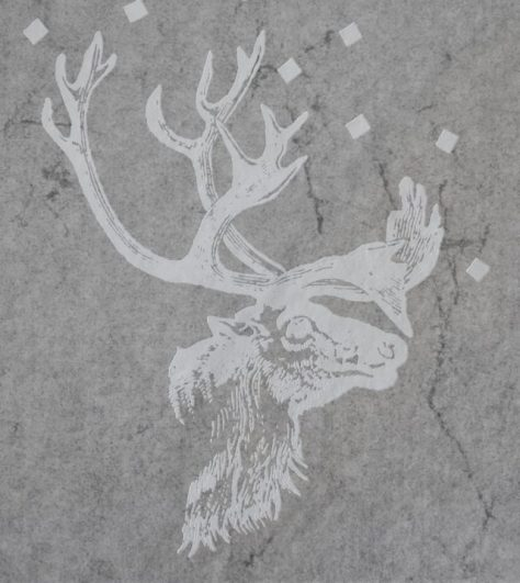 Caribou, or Reindeer, From The Front Cover Illustration of Eskimo Poems From Canada and Greenland. 1973, Translated by Tom Lowenstein. Originally Collected by Knud Rasmussen.