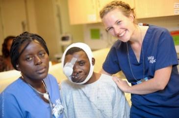 Photo Credit Suzanne Scheumann; nurse Agnes PEN (NLD) with a VVF patient