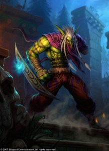 Zul'jin leader of the Amani Forest Trolls