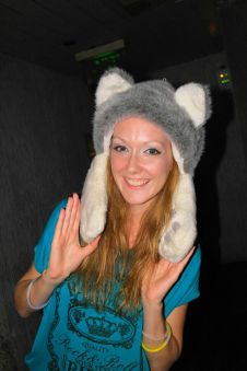 Kitty clubbing hat!