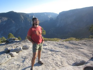 The Husband soaks up the grandeur of the Yosemite Valley.
