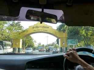 Welcome Sign, Yangon