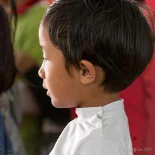 Child reciting a Bible verse