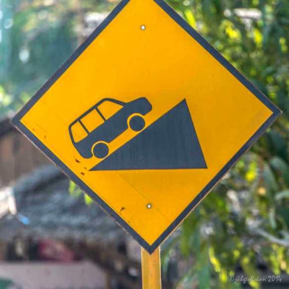 Steep incline ahead