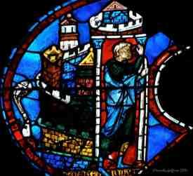 A pilgrim leaving Jerusalem