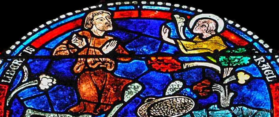 An angel appears to a man, probably Gideon (see Judges 6:11-24)