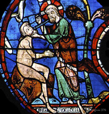 God giving Adam the breath of life