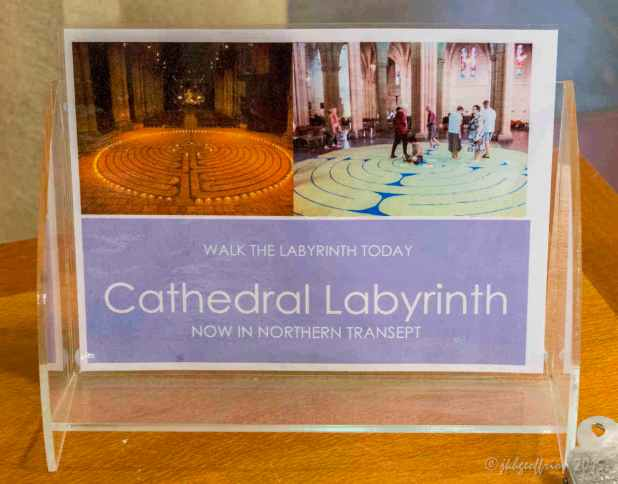 Signage about labyirnth