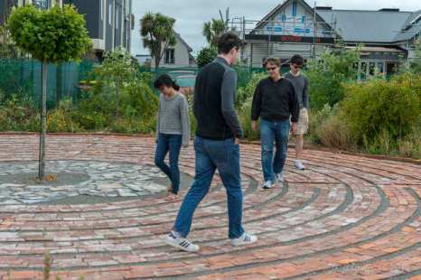Walking the labyrinth together as a family