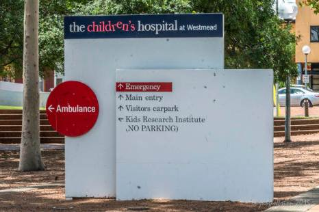 Westmead Children's Hospital Sign