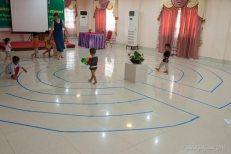 Cambodia Labyrinth Walk with children