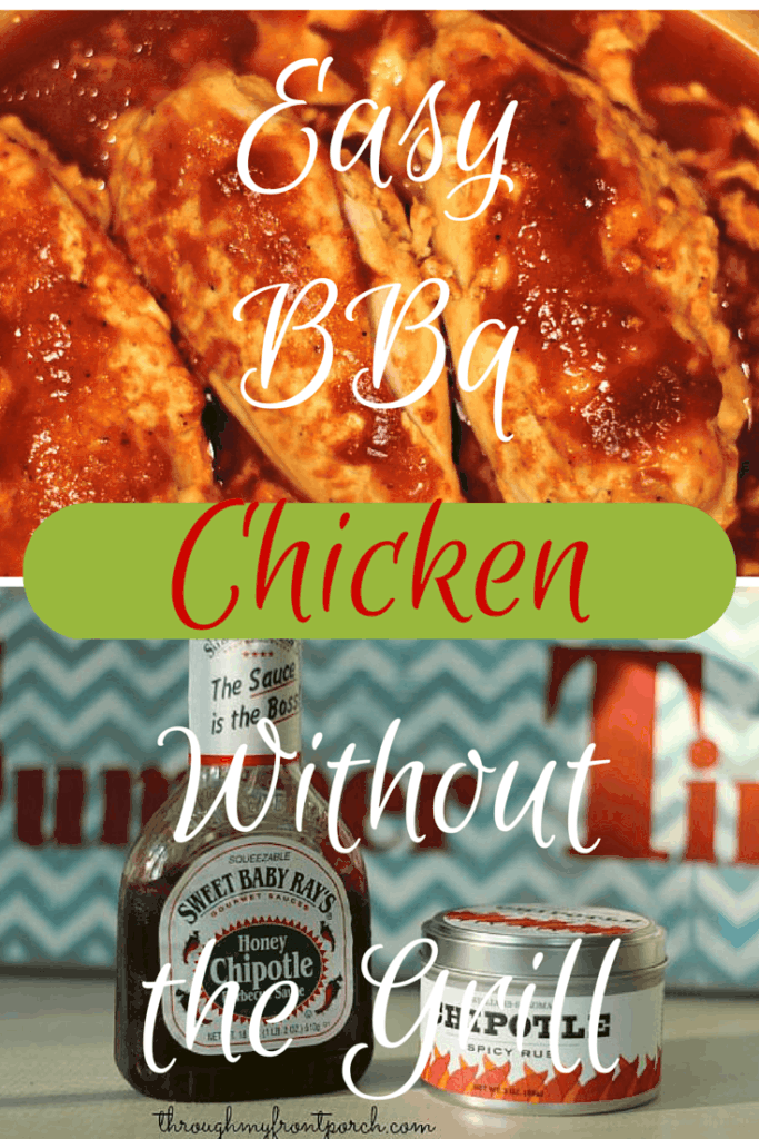Barbecue chicken is my go to easy week night dinner. The best part is, it is delicious. Chicken is inexpensive, too. You don't even need a grill.