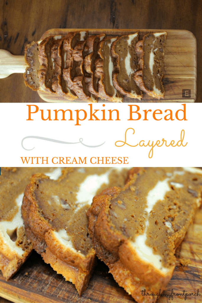 How To Bake Pumpkin Bread Layered With Cream Cheese
