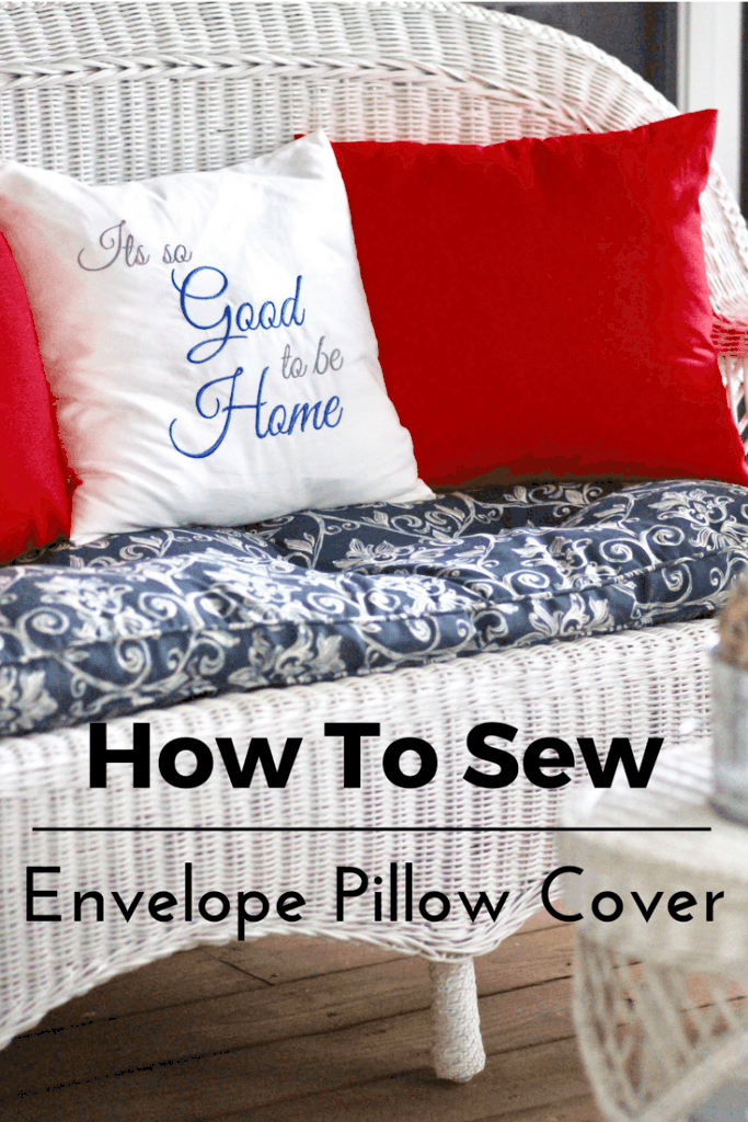 Sew An 40 Inch Envelope Pillow Cover Tutorial Through My Front Porch Interesting How To Cover A Pillow With Fabric