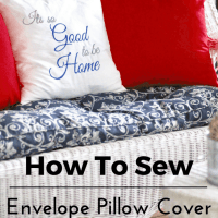 Sew An 18 inch Envelope Pillow Cover Tutorial