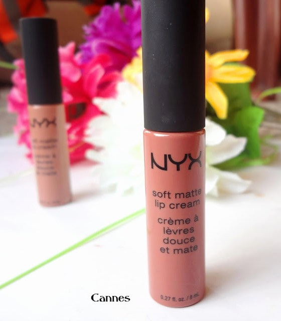 NYX soft matte lip cream Cannes