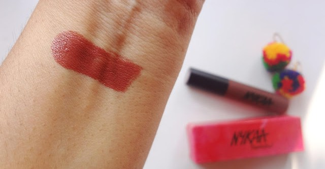 """""""Nykaa Paintstix in Cool Girl Nude 02 review and swatch @throughmypinkwindow"""""""