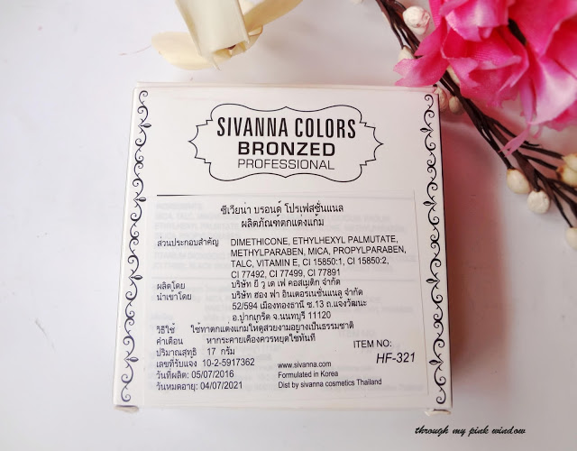 Review and swatch of Sivanna colors Bronzed  Professional in #04 Natural